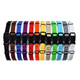 All4pet DC-B50 Soft Nylon Puppy ID Buckle Collars & Bands (Set of 12)