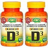 Vitamina D3 2000 UI - 2 unidades de 60 Cápsulas - Unilife