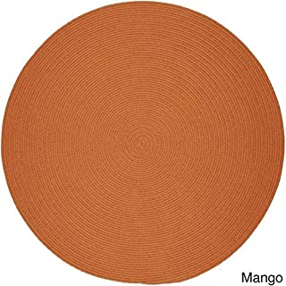 product image for Rhody Rug Venice Indoor/Outdoor Braided Rug (6' Round) Orange