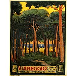 "Viareggio City and Comune Located in Northern Tuscany Italy Coast of the Tyrrhenian Sea Travel Italiana Italian 12"" X 16"" Image Size Poster Reproduction"