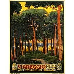 "Viareggio City and Comune Located in Northern Tuscany Italy Coast of the Tyrrhenian Sea Travel Italiana Italian 12"" X 16"" Image Size Poster Reproduction"