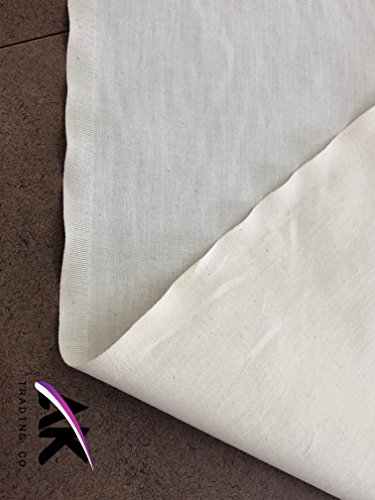 AK Trading 60'' Wide Natural Muslin Fabric, 100% Cotton Fabric, Unbleached 50 Yards by AK TRADING CO. (Image #2)