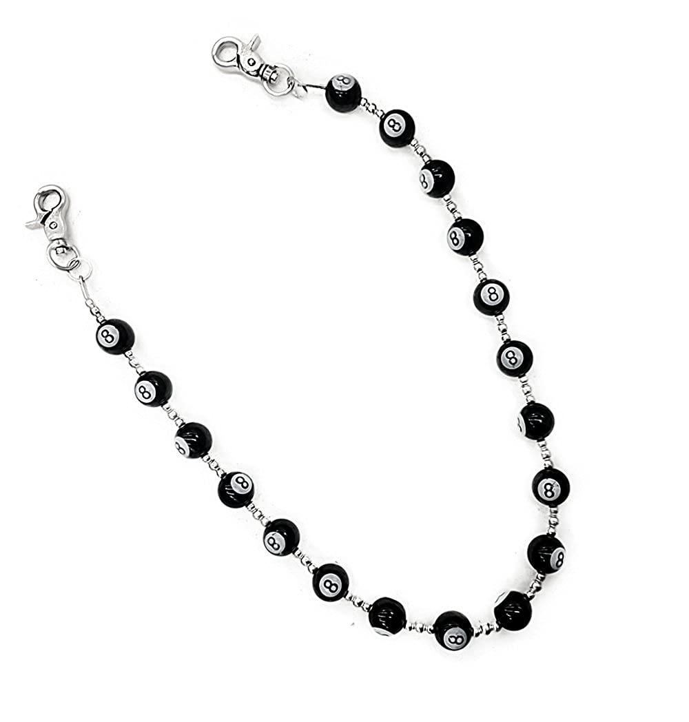 AKKi jewelry Akkki Hosenkette mit Billiard Kugel B/örsenkette Biker portmone Jeans Kette Schl/üsselkette
