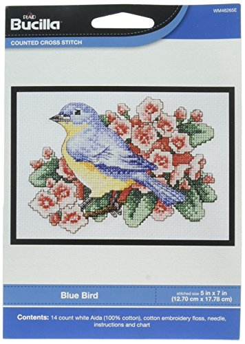 Bucilla My 1st Blue Bird Mini Cross 5