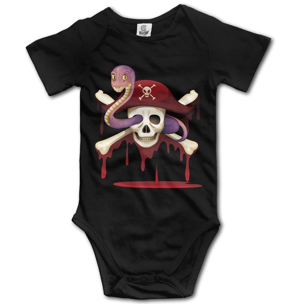 Jaylon Baby Climbing Clothes Romper Pirate Hat Infant Playsuit Bodysuit Creeper Onesies Black