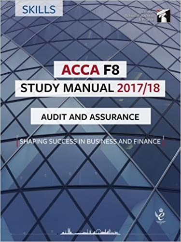 Buy ACCA F8 Audit and Assurance Study Manual: For Exams until June