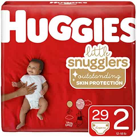 Huggies Little Snugglers Baby Diapers, Size 2 (12-18 lb.), Jumbo Pack, 29 Count (Packaging May Vary)