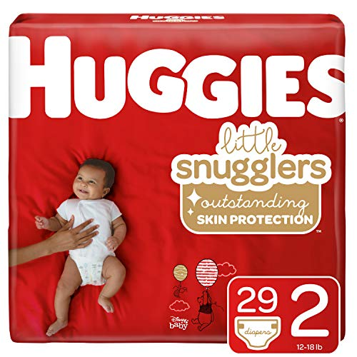 Huggies Little Snugglers Baby Diapers, Size 2, 29 Count