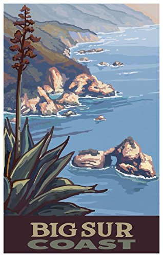 Big Sur California Coastline Travel Art Print Poster by Paul A. Lanquist (12