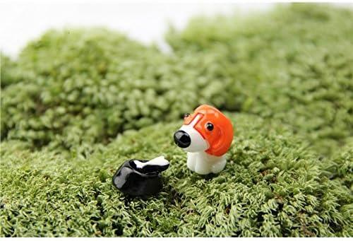 HGJNGHBNG Jardín en Miniatura Miniatura Animales Lindos Perro ...