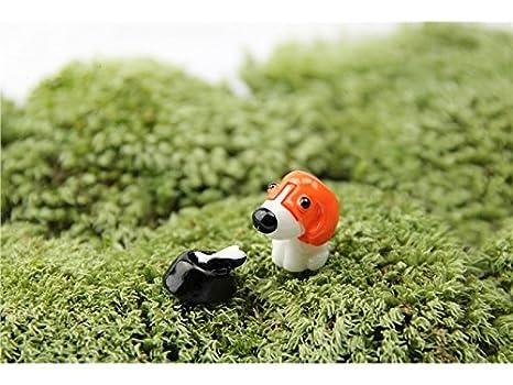 Lindo Mini Miniatura Animales Lindos Perro Micro Paisaje Decoración Adornos Artesanía de Jardín Decoración de DIY
