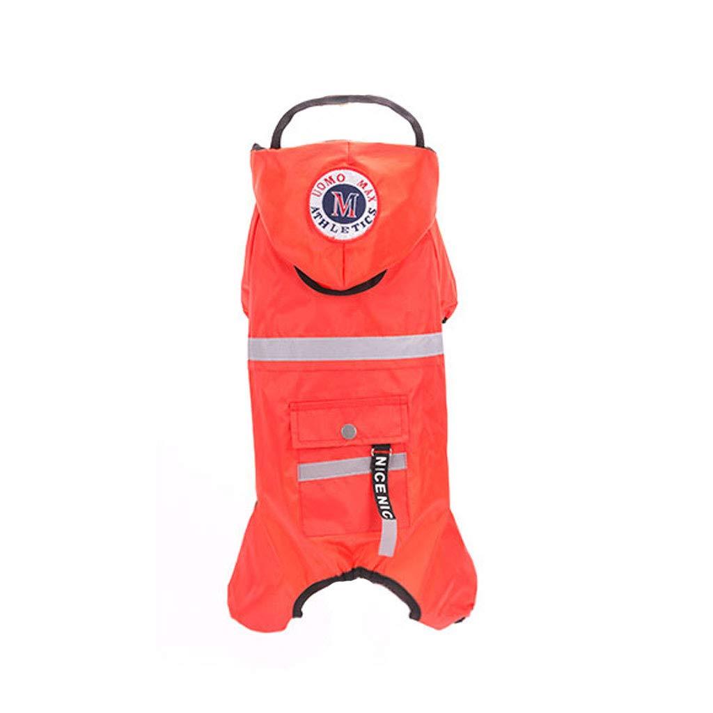 M Pet Travel Bag Four-Leg All-Inclusive Dog Raincoat Teddy Clothes pet Than Bear Pomeranian Dog Waterproof Poncho Thin Section (Size   M)