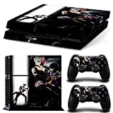 Ambur® PS4 Console Designer Skin for Sony PlayStation 4 System plus Two(2) Decals for: PS4 Dualshock Controller --- Suicide Squad Joker Harley Quinn