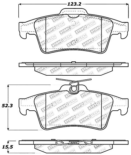 StopTech 309.10950 Street Performance Rear Brake Pad by StopTech