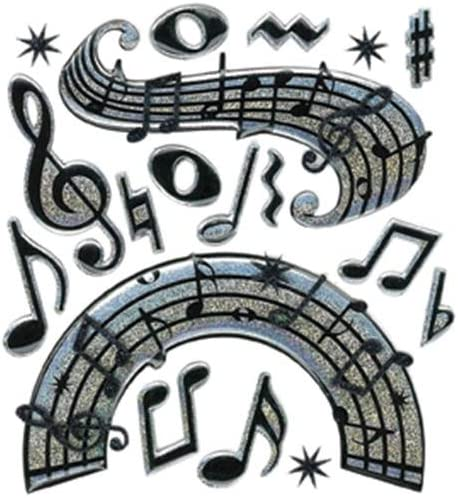 Jolees Boutique Music Notes Dimensional Stickers