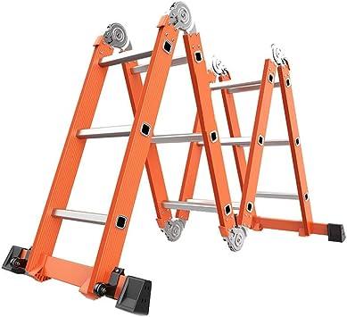 Escaleras de tijera Escalera De Engrosamiento De Aleación De Aluminio Escalera Plegable Multifuncional Escalera Telescópica Elevación De Escalera Recta Escalera De Ingeniería Portátil: Amazon.es: Bricolaje y herramientas