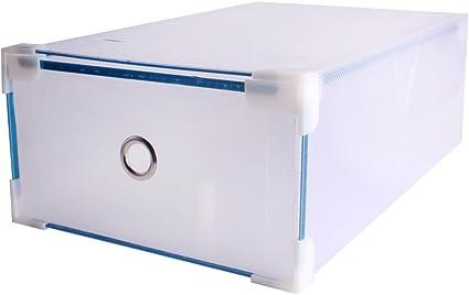 Andux Cajas para Zapatos de plastico Plegable Transparente/CTXH-01 (2 Piezas): Amazon.es: Hogar