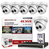 Hikvision IP Camera Kit DS-7608NI-I2/8P 8CH 4K PoE NVR Bundle w/ 6 x DS-2CD2343G0-I 4MP 2.8mm Hikvision Turret IP Cameras Replacement Model for DS-2CD2342WD-I Genuine English International (7 Items)