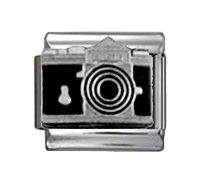 Stylysh Charms Camera Photographer Enamel Italian 9mm Link NC264