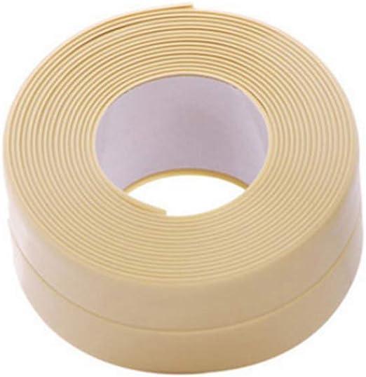 rycnet Cinta adhesiva de PVC antihumedad, a prueba de moho, para cocina, cuarto de baño, fregadero, color beige: Amazon.es: Industria, empresas y ciencia