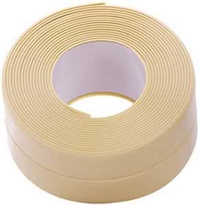 Rycnet - Cinta adhesiva de PVC antihumedad para cocina, baño, pared o fregadero beige: Amazon.es: Hogar