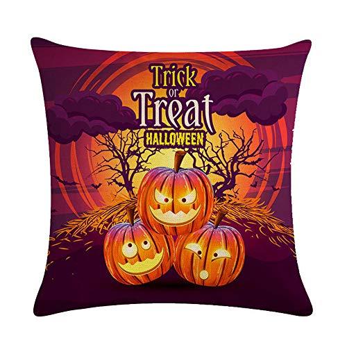 GTQC Halloween Series Linen Hug Pillowcase Cushion Set Lumbar Pillow 10 4545cm