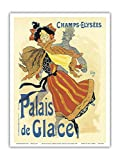 Pacifica Island Art - Palais de Glace Ice Skating Rink Paris - Vintage Advertising Poster by Jules Chéret 1896 - Master Art Print - 9 x 12 in