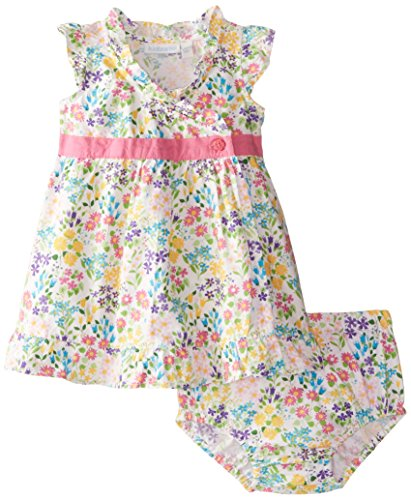 Jojo Maman Bebe Baby Girls' Baby Dress with Knickers, Wildflower, 12 18 Months