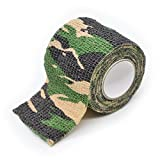 Freehawk® Self-adhesive Outdoor Military Camo Set of Camo Form Multi-functional Non-woven Camouflage Wrap Tape Waterproof Camo Stealth Tape Perfect for Hunting Gun, Knife Handles and Deck Out Your Paintball Airsoft Guns, Weapons, Scopes, Binoculars, Flashlights, Knife Handles & Sheaths, Ammo Clips, Canteens & More in Camouflage 3.5M (Woodland Camo)
