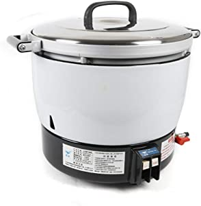 75-Cup 15L Cooker Commercial Restaurant Natural gas Rice Cooker for Brown Rice White Rice and Porridge Stainless Steel Food Steamer and Exterior, Non-Coating inner pot (7L)