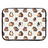 SWAKOJIJI Lots of Little Guinea Pigs 13/15 Inch Laptop Sleeve Bag for MacBook Air 11 13 15 Pro 13.3 15.4 Portable Zipper Laptop Bag Tablet Bag,Diving Fabric,Waterproof Black