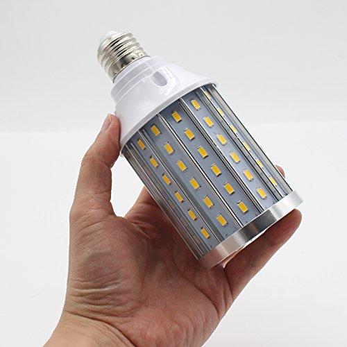 Mininono High Power LED Bulb 25W Aluminum High Power Corn Light Bulb, 108LEDs 200W Halogen Bulbs Replacement, Warm White 3000K Medium Edison E26/E27 Base Super Bright LED Lamp by Mininono (Image #5)
