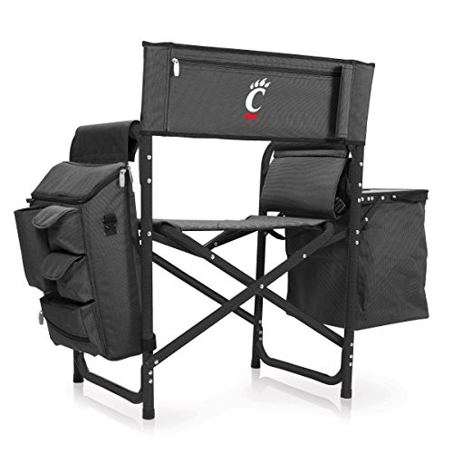 NCAA University of Cincinnati Digital Print Fusion Chair, Dark Grey/Black, One Size by PICNIC TIME