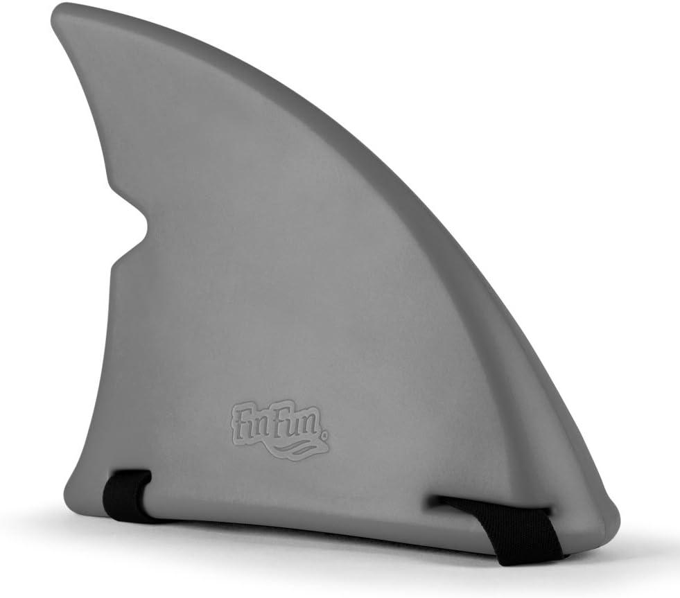 Fin Fun Shark Fin for Swimming and Costume (Gray)