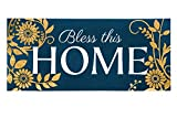 Evergreen Bless This Home Decorative Floor Mat Insert, 10 x 22 inches