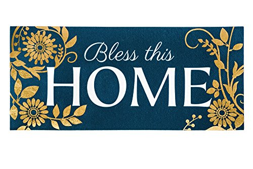 Evergreen Bless This Home Decorative Floor Mat Insert, 10 x