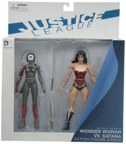 DC Collectibles DC Comics The New 52 Wonder Woman vs. Katana Action Figure, 2-Pack