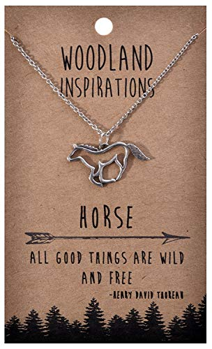 Shag Wear Woodland Nature Inspirations Quote Necklace (Horse Pendant)