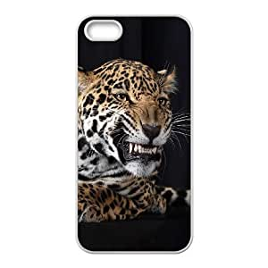 Durable Material Phone Case With Leopard Image On The Back For iPhone 5,5S