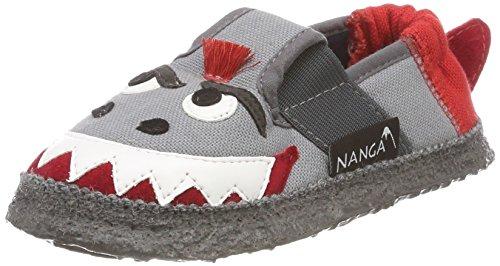 Nanga Hai, Zapatillas de estar Por Casa Unisex Niños Blau (mittelgrau)