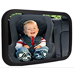 [Safety Tested & Parent approved] As parents ourselves, we know safety is a top priority.Shynerk baby mirror features a shatter-proof safety which has been crash tested and certified to provide peace of mind that in the event of an accide...