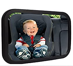 [Safety Tested & Parent approved] As parents ourselves, we know safety is a top priority.Shynerk baby mirror features a shatter-proof safety which has been crash tested and certified to provide peace of mind that in the event of an accident, your...