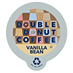 Double Donut Vanilla Bean Coffee Single Serve Cups for Keurig K-cup Brewer