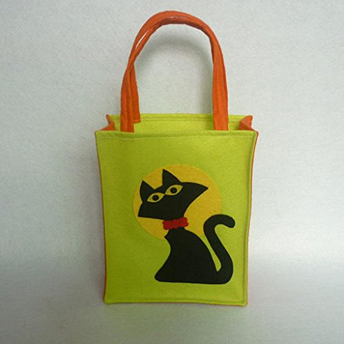 Jili Online Pieces of 6 Non-woven Fabric Mixed Style Halloween Holiday Trick or Treat Loot Tote Bags with Handle Home Party Gift Bags by Jili Online (Image #5)