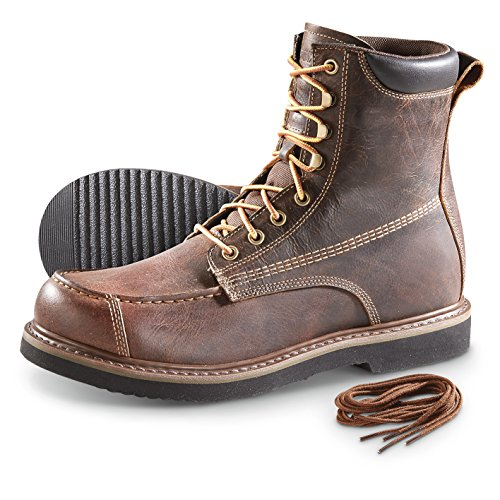Guide Gear Men's Uplander Waterproof Lace up Hunting (Repairable Goodyear Welt)