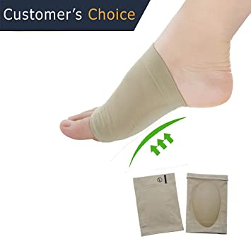 ac8aa7d34c Sumifun - 2 Piece Arch Support Sleeve Cushion Foot Care Plantar Fasciitis  Heel Spurs Neuromas Flat Feet Orthopedic Pad Feet Care Tool (1): Amazon.co.uk:  ...