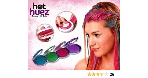 Ndier hot huez - Kit de teñido temporal con efecto tiza para el cabello, 4 colores