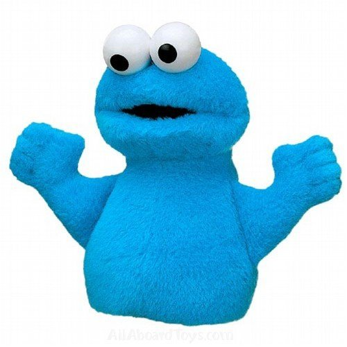 - Gund Sesame Street Plush Cookie Monster Finger Puppet