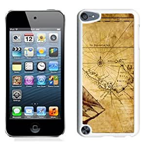 NEW Unique Custom Designed iPod Touch 5 Phone Case With Old Map Illustration_White Phone Case
