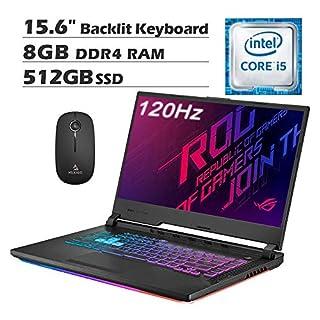 2020 Asus ROG Strix G 15.6 Inch 120Hz FHD 1080P Gaming Laptop (Intel 4-Core i5-9300H up to 4.1 GHz, GTX 1660 Ti 6GB, 8GB RAM, 512GB SSD, Backlit KB, Win 10) + NexiGo Wireless Mouse Bundle